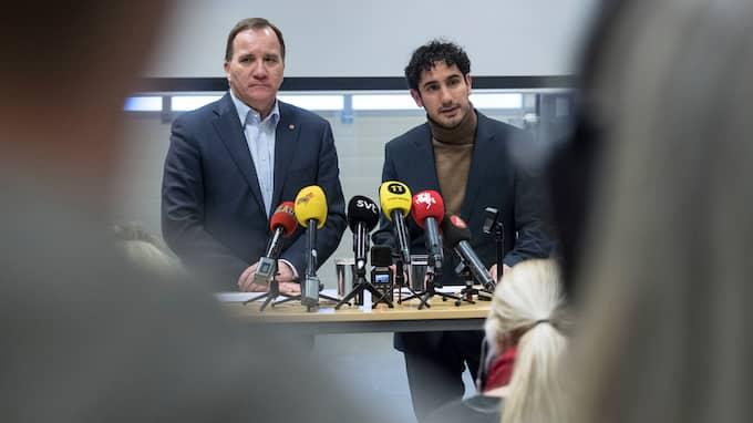 Under måndagen hölls en presskonferens på Tullverket i Malmö där statsminister Stefan Löfven och civilminister Ardalan Shekarabi avslöjade att 300 statliga tjänster flyttas till Skåne. Foto: JOHAN NILSSON/TT / TT NYHETSBYRÅN