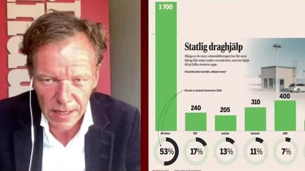 """Petersson: """"Verkstadsbolagen höll resultaten uppe med statliga stöd"""""""