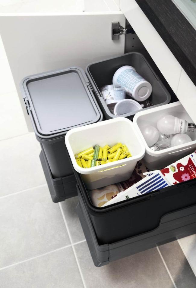 Sopsortera i framtiden.<br>Ikea har smarta system för sopsortering som är billiga och går att individanpassa efter ditt eget behov.<br>Från 149 kronor, ikea.se.