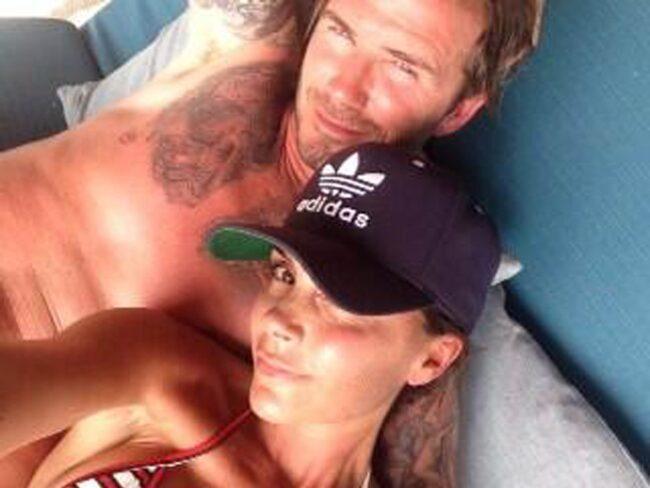 Paret Beckham tycker om att resa till Amldiverna.