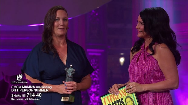 Paulina Bengtsson tar emot stora mammapriset