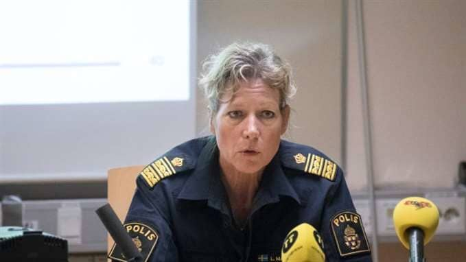 Polisområdeschefen i Älvsborg, Lena Matthijs. Foto: Henrik Jansson