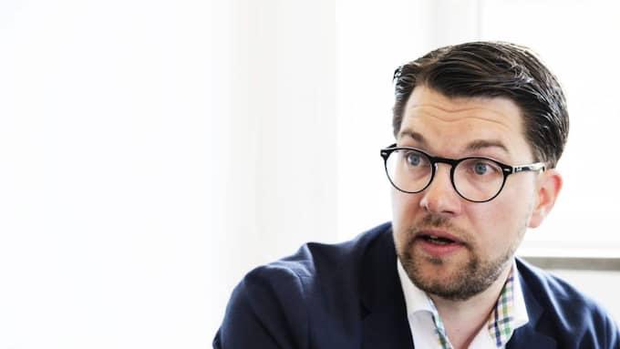 Jimmie Åksesson, partiledare för Sverigedemokraterna. Foto: Anna-Karin Nilsson