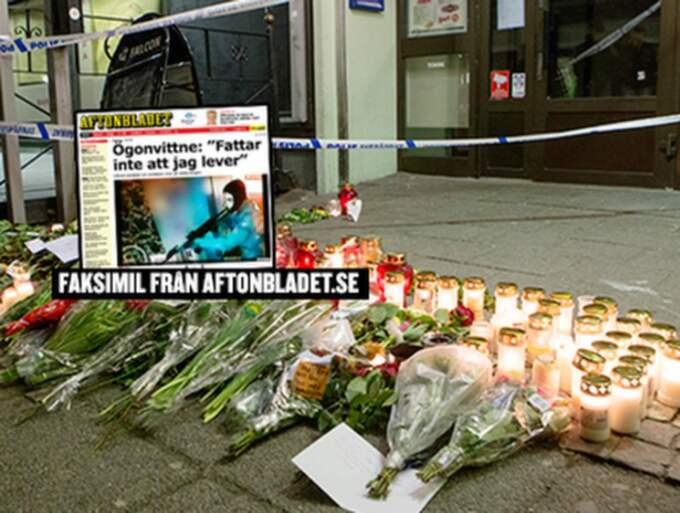 """De maskerade männen gick in på """"Vår krog"""" på Hisingen i Göteborg och öppnade eld med automatvapen. Två män, 20 och 25 år gamla, sköts till döds och ytterligare åtta personer skadades."""