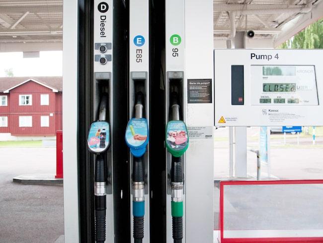 Diesel- och bensinpumparna kommer inte finnas kvar om 12 år om Miljöpartiet får bestämma.