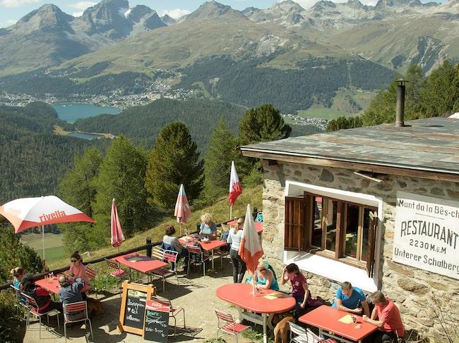 Lunch med fantastiskt utsikt på 2 230 meters höjd.