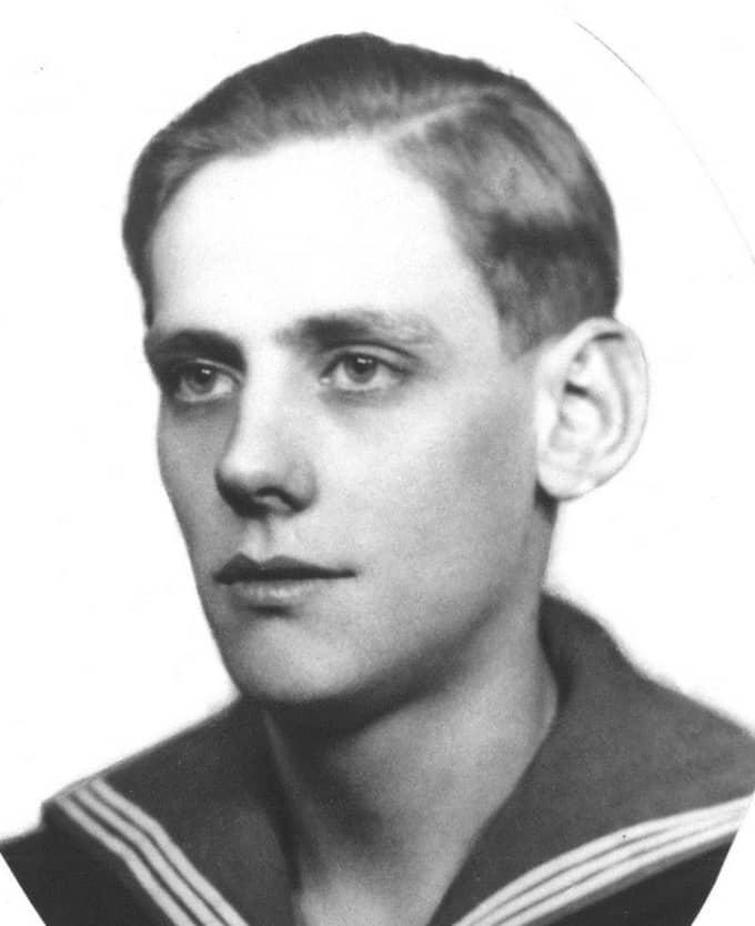 Gunnar Ahlqvist, 26, omkom i Hansakatastofen 1944. Foto: Privat