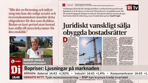 Ingrid Uggla uppdaterar om bostadsmarknaden