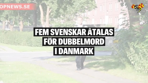 Fem unga svenskar åtalas för dubbelmord i Danmark