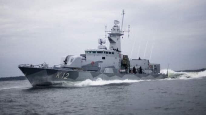 Korvetten HMS Malmö har enligt vittnen synts i Stockholms skärgård på fredagen och lördagen. Foto: Combat camera / Försvarsmakten