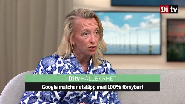 Google matchar utsläpp med 100% förnybart