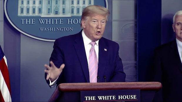 """Trump: """"Tyvärr kommer många flera att dö"""""""
