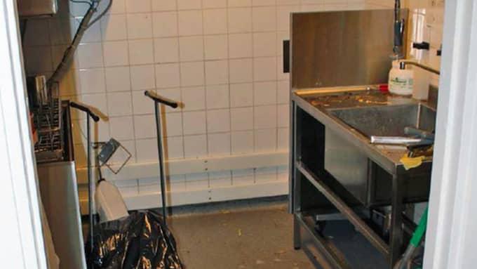 I diskrummet inne på Maxrestaurangen. Foto: Polisen