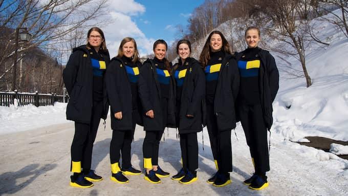 Svenska damtruppen i längdskidor (Charlotte Kalla saknas på bilden). Foto: JOEL MARKLUND / BILDBYRÅN