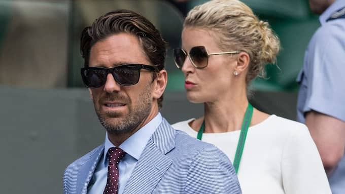 Henrik Lundqvist med frun Therese på Wimbledon 2016. Foto: JAMES GOULEY/REX/SHUTTERSTOCK / JAMES GOULEY/REX/SHUTTERSTOCK REX FEATURES