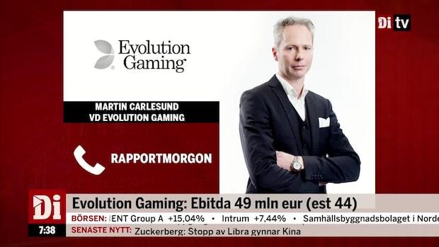 """Evolution Gaming:s vd - """"vi gör ett urstarkt kvartal"""""""