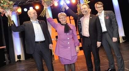 Val-kickoff. Alliansen rivstartade valrörelsen med att utlova skattesänkningar för pensionärerna. Foto: Christian Örnberg