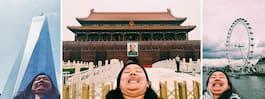 Hon gör narr av perfekta selfies – på underbart sätt