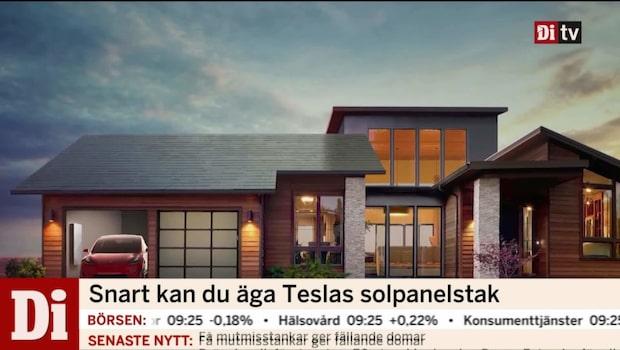 Snart kan du äga Teslas solpanelstak