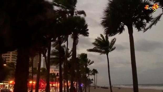 Tropisk storm drar in i Florida – kan hota astronauternas landning