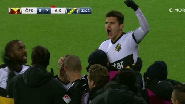 AIK chockar ÖFK – två mål på tre minuter