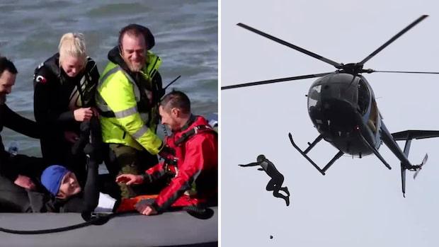 Här går världsrekordförsöket helt fel – när han hoppar från 40 meter