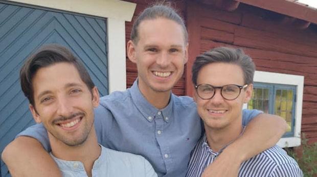 Mathias och Thomas blev kära i samma man – nu är de en trio