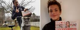 Axel, 13, sålde Kvällsposten och uppfyllde sin dröm
