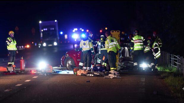 En person skadad i smitningsolycka