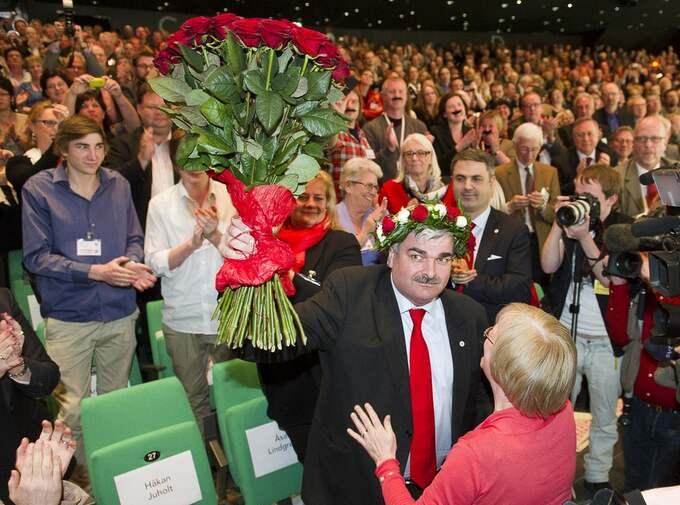 FREDAG. Håkan Juholt valdes till Socialdemokraternas partiledare. Foto: Suvad Mrkonjic