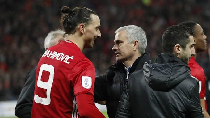 Zlatan Ibrahimovic och José Mourinho. Foto: CARL RECINE / REUTERS BILDBYRÅN