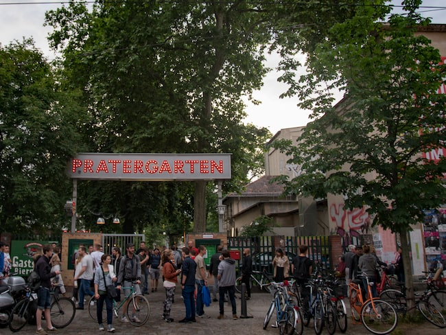 Berlins äldsta biergarten Prater Garten.