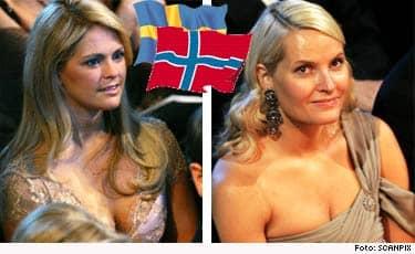 Nog stjäl Mette-Marit också uppmärksamhet från kung Harald.