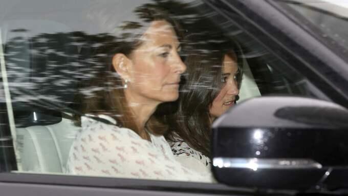 Kates syster Pippa Middleton var först att besöka familjen efter födseln. Med var även mamma Carole. Foto: Danny E. Martindale