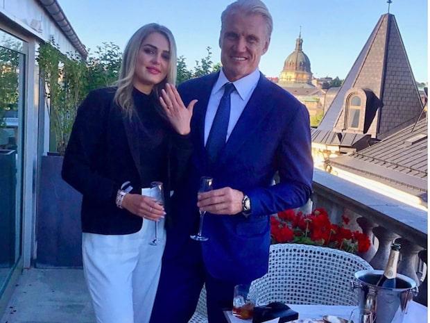 Dolph Lundgren förlovad med kärleken Emma Krokdal