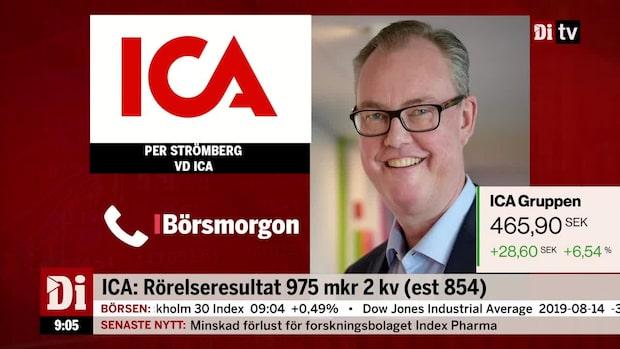 """ICA-vd:n om rapporten: """"Väldigt bra ökningstakt"""""""