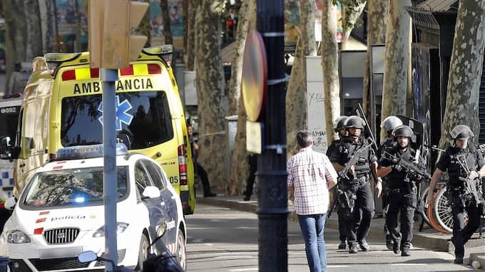 Terroristerna slog till på Barcelonas mest kända gata: La rambla. Foto: ANDREU DALMAU / EPA TT NYHETSBYRÅN