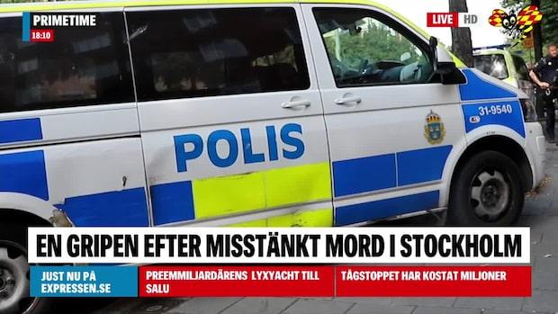En gripen – misstänkt för mord i Stockholm
