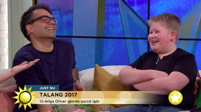 Jurymedlemmen David Batra och Oliver Rytting i Nyhetsmorgon. Foto: TV4