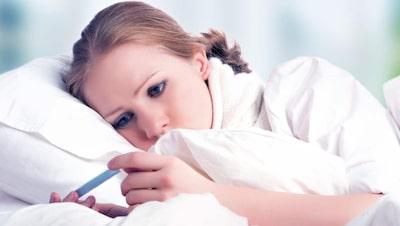 långvarig hög feber