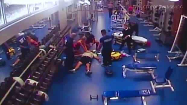 Fick hjärtattack på gymmet - räddades av tonåring
