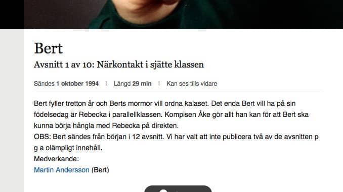 """""""För olämplig att visas"""" står det på SVT:s hemsida. Foto: SVT"""