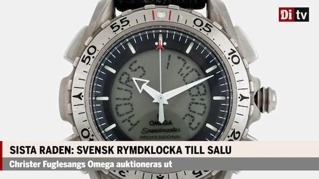 Svensk rymdklocka till salu