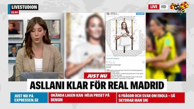 Kosovare Asllani är klar för Real Madrid