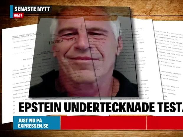 Epstein skrev testamente två dagar före sin död