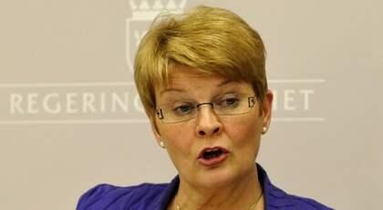Maud Olofsson får kritik av EU-kommissionär. Foto: Bertil Ericson / Scanpix