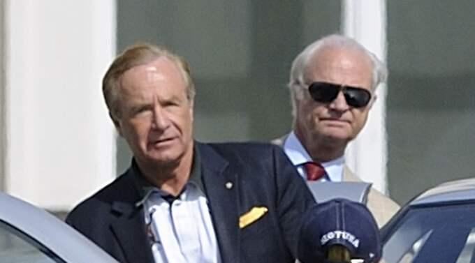 Tidigare har kungen enbart lämnat en kort skriftlig kommentar angående den nära vännen Anders Lettströms kontakter med den kriminella världen. Foto: Stefan Söderström