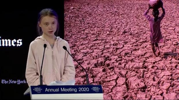 Se hela Greta Thunbergs tal till världsledarna i Davos