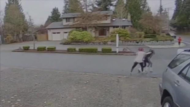 Pakettjuven gick på en nit - stoppades av tuffa barnvakten