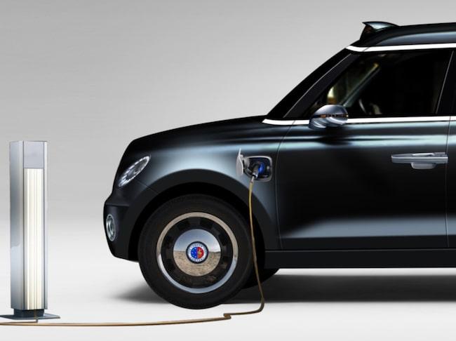 Snart kan det sitta teknik från Volvo under huven i Londons taxibilar.
